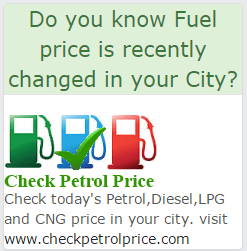 Check today's Petrol,Diesel,LPG and CNG price in your city. visit www.checkpetrolprice.com